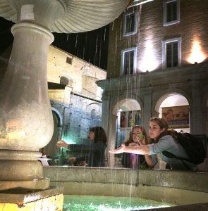 Nighttime in Piazza della Repubblica
